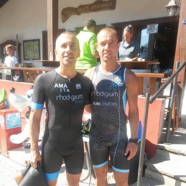 Ghinato Enrico: Chapeu By Triathlon To Rhodigium Team/ A Vichy Con Ironman